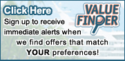 Sign up to receive Value Finder alerts